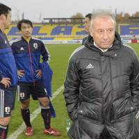 Vote of confidence: Japan manager Alberto Zaccheroni has been assured his position is not in jeopardy despite defeats to Serbia and Belarus over the past week. | KYODO