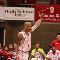 Familiar face: Veteran guard Jermaine Dixon is back with the Hamamatsu Higashimikawa Phoenix after spending last season with the Gunma Crane Thunders. | HIROKO IWASA