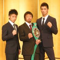 Opportunity to shine: Boxers Naoya Inoue (left), Akira Yaegashi (center) and Ryota Murata are all scheduled to fight on Dec. 6 at Tokyo's Ryogoku Kokuigan. | KAZ NAGATSUKA
