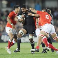 Force of nature: World Cup-winning All Black Jerome Kaino joined Toyota Verblitz of Japan's Top League on a two-year contract in March 2012. | KYODO