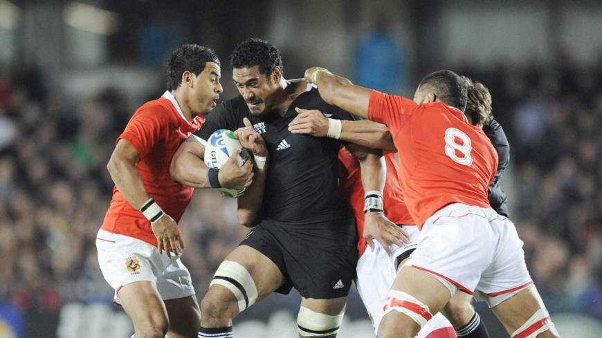 Force of nature: World Cup-winning All Black Jerome Kaino joined Toyota Verblitz of Japan's Top League on a two-year contract in March 2012.