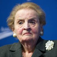 Not just us: Former U.S. Secretary of State Madeleine Albright speaks during the Center for American Progress's 10th anniversary conference in Washington on Thursday | AFP-JIJI