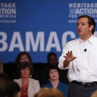 Vocal opposition: Sen. Ted Cruz, a Republican from Texas, speaks at a Heritage Action Defund Obamacare Town Hall event in Dallas on Aug. 20, a day after Heritage Action for America announced a $550,000 online ad campaign in 100 Republican-controlled districts, urging lawmakers to support efforts to stop funding for the health care law. | BLOOMBERG