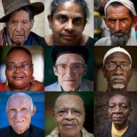 Roll of the dice: A combination of photos from 2013 shows senior citizens from across the globe. A new study on aging and the economy has baffled researchers, saying that in developed countries, the elderly have a higher mortality rate when the economy goes into higher gear. | AP
