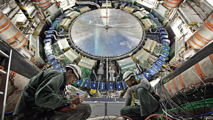 Snubbed?: Scientists toiling at the Large Hadron Collider facility on the Swiss-French border were not among the recipients of the Nobel prize in physics, although they were mentioned in a note accompanying the decision.