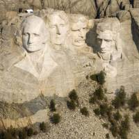 Face-saver: Mount Rushmore National Memorial in the Black Hills of South Dakota is among the national parks and monuments that at least four U.S. states will reopen with their own money during the ongoing federal government shutdown. | AP