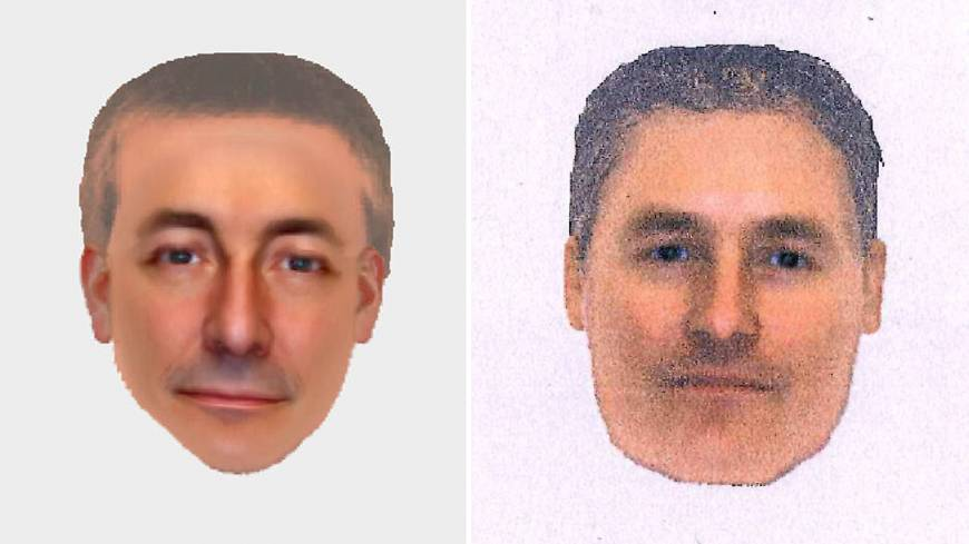 Most wanted: Electronic images released Monday by London's Metropolitan Police show a man detectives are seeking in connection with the 2007 disappearance of Madeleine McCann from a Portuguese holiday complex.