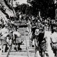'The Line': Australian and British prisoners of war lay track on the Burma-Thailand railway in 1943. | CREATIVE COMMONS