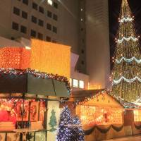 Market festivities: Osaka's German Christmas Market sports a 27-meter-tall tree.
