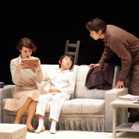 Family un-ties: Eriko Ogawa's production of David Mamet's  'The Cryptogram' may still be a challenge — but it's enormously rewarding, too. Left (left to right): Cast members Narumi Yasuda, Waku Sakaguchi and Shosuke Tanihara. | © YOSHINORI MIDOU