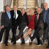 Flogging a dead parrot: The remaining members of Monty Python (left to right), Michael Palin, Eric Idle, Terry Jones, Carol Cleveland, Terry Gilliam and John Cleese. | AFP-JIJI