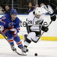 Scrivens delivers as Kings edge Rangers