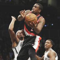 Hot-shooting Trail Blazers beat Nets, cruise to seventh straight victory