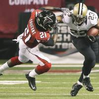 Saints roll past Falcons