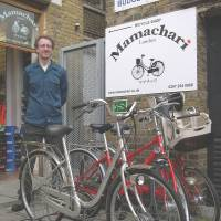 It rings 'charinko': Noah Fisher sells 'mamachari' bikes at his London shop in October | KYODO