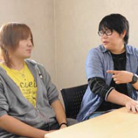 Wataru Okawara (right) and Shingo Kamide are interviewed in May in Hokkaido. | COURTESY OF HARUMACHI