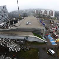 Latvian leader dubs roof collapse 'murder'