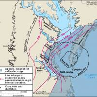 Boundaries of the Chesapeake Bay impact crater U.S | GEOLOGICAL SURVEY/ WIKIMEDIA COMMONS