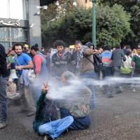 Egyptian protest crackdown begins