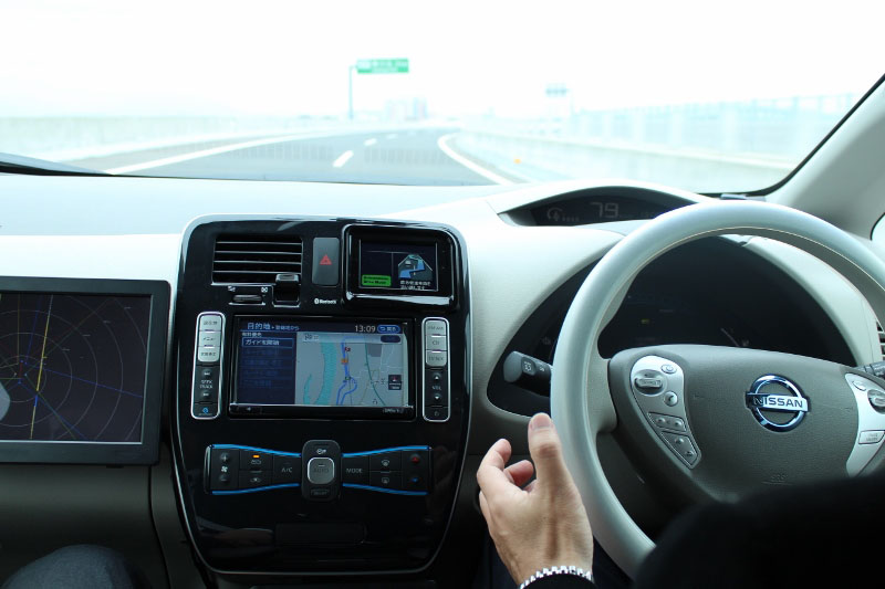 Nissan road tests self driving vehicle the japan times for Motor vehicle drivers test