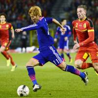 Japan bests Belgium on road