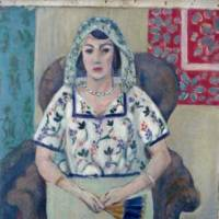 Sitting, waiting: 'Sitzende Frau' ('Sitting Woman'), a painting by French artist Henry Matisse, was among the more than 1400 artworks that were seized by German authorities in a Munich apartment in February 2012. | AP