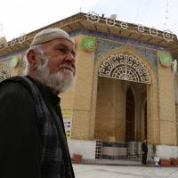 Closed for worship: A Sunni worshipper leaves the Sunni Abu Hanifa mosque in north Baghdad district of Azamiya after finding out it was closed Saturday. | AP
