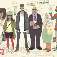 Reborn: This image released by Marvel Comics shows character Kamala Khan (second left) with her family from the new 'Ms. Marvel' comic. The new monthly comic is debuting as part of Marvel's popular All-New Marvel NOW! initiative | AP