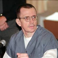 Reprieved: Joseph Paul Franklin sits in Hamilton County Common Pleas Court in 1998 as jury selection begins in his murder trial in Cincinnati. He won a stay of execution, which was scheduled for Wednesday in Missouri. | AP