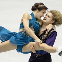 Fire on ice: Meryl Davis and Charlie White of the U.S. perform during their free dance event in the NHK Trophy, the fourth leg of the six-stage ISU figure skating Grand Prix series, in Tokyo on Sunday | AFP-JIJI