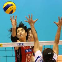 Japan spikers triumph over Thailand