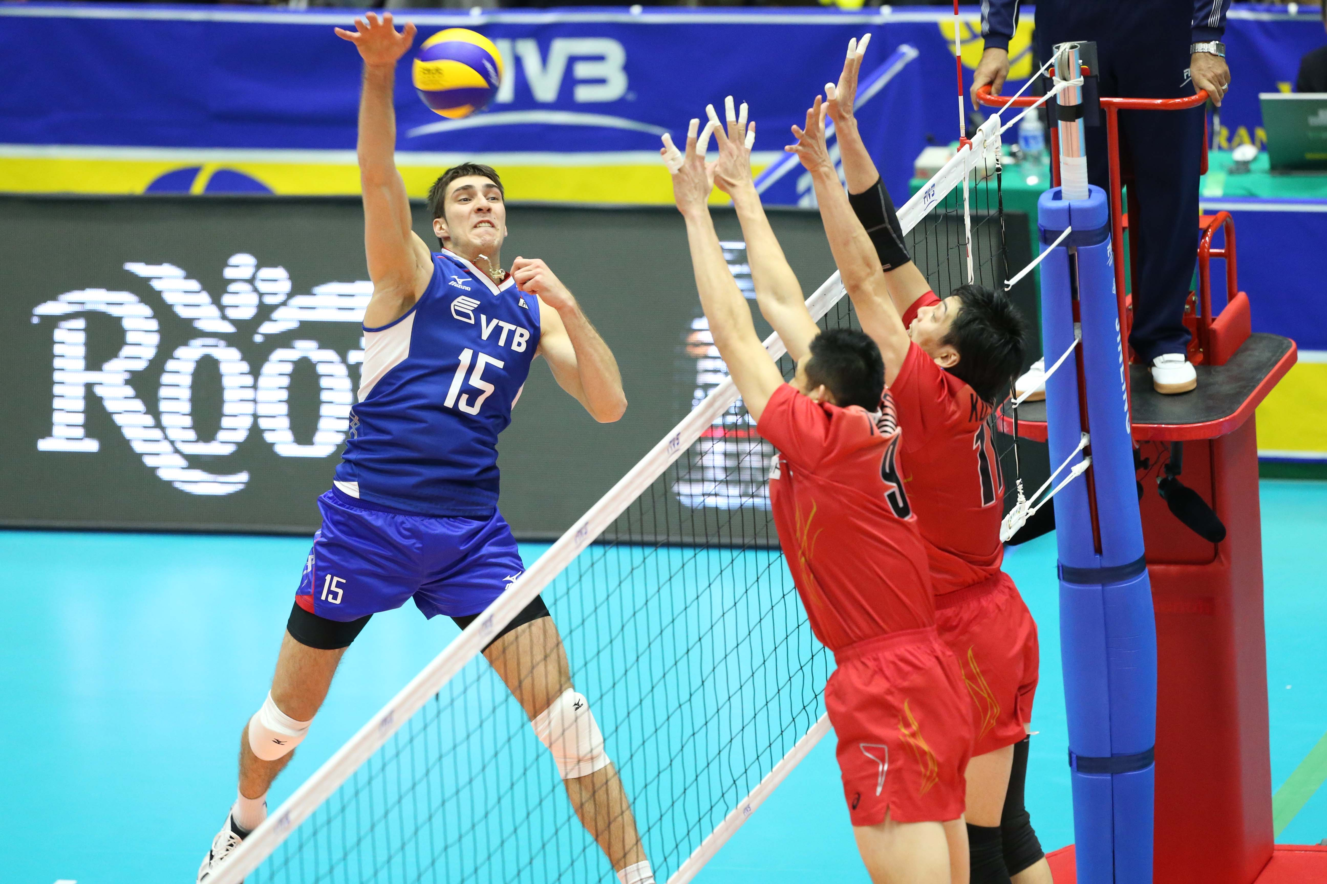 Russia spikers dominate Japan in FIVB Men's Grand ...