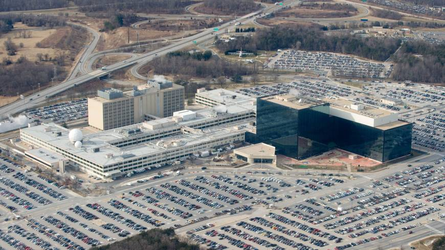 Omnipresent: The headquarters of the National Security Agency in Fort Meade, Maryland, are seen from the air in January 2010.