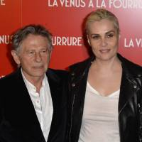 Red carpet: Director Roman Polanski and his wife, French actress Emmanuelle Seigner, arrive for the French premiere of his latest film, 'Venus in Fur,' in Paris on Monday. | AFP-JIJI