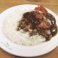 A filling plate of Kyoeido's signature pork curry. | STEVE TRAUTLEIN