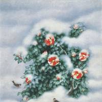 'Camellia in Snow' (1994) | THE JAPAN ART ACADEMY