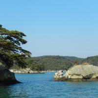 Nature's front line: Little pine-clad islands like these dotting Matsushima Bay in Miyagi Prefecture are picturesque, and effective, barriers protecting human settlements from stormy seas and Japan's inevitable tsunami. | STEPHEN HESSE PHOTO