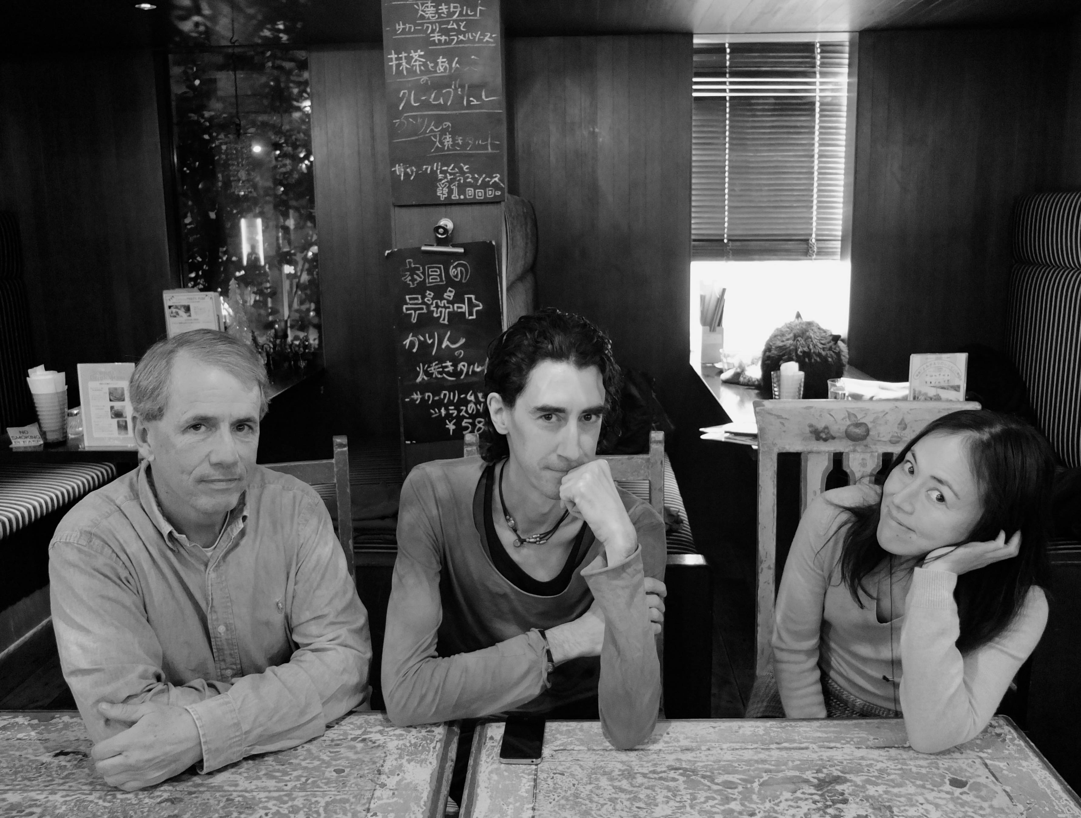 When shall we three meet again: JT film critics (from left) Mark Schilling, Giovanni Fazio and Kaori Shoji.