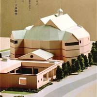 Dress rehearsal: An architect's model of the future Panasonic Tokyo Globe Theatre.