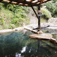 Outdoor hot-spring baths at the Hozantei Ryokan. | MANDY BARTOK PHOTO