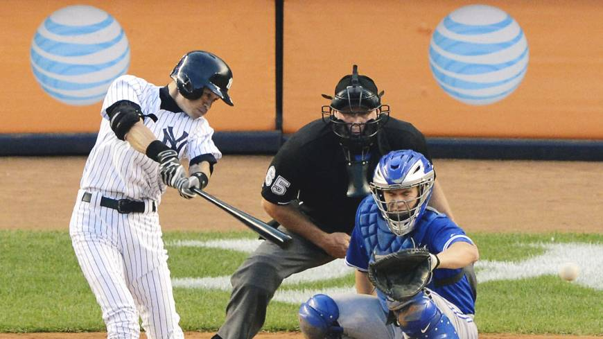 Marathon man: Ichiro Suzuki gets the 4,000th hit of his career in Japan and the major leagues combined in the first inning of New York's game against the Blue Jays at Yankee Stadium in August off a pitch by Toronto starter R.A. Dickey.