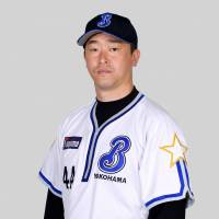 Shooting star: Former BayStars hurler Tomokazu Oka is hoping to pitch in the major leagues. | KYODO