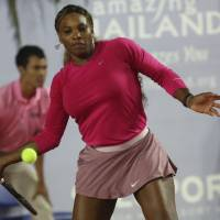 Not messing around: Serena Williams is determined to get 2014 off to a good beginning at the Brisbane International. | AFP-JIJI