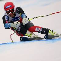 Right on schedule: Bode Miller competes in the men's super-G in Val Gardena, Italy. | AFP-JIJI