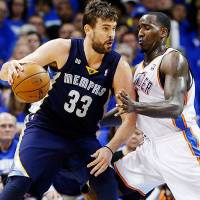 Main man: The Memphis Grizzlies have won only five of 15 games without star center Marc Gasol, who has been sidelined for several weeks with an injury to his left knee. | AP