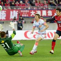 Champions again: Sanfrecce Hiroshima striker Naoki Ishihara scored 10 goals this season as the club won its second straight J. League title. | KYODO