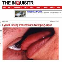 Gullible: One of the blogs and online reports that fell for the eyeball licking story.