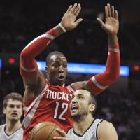 Harden leads Rockets past Spurs, to fifth straight victory