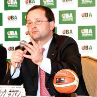 Get it together: FIBA secretary general Patrick Baumann, seen in a file photo taken during a previous trip to Japan, has told the JBA to resolve its various issues.Kaz Nagatsuka
