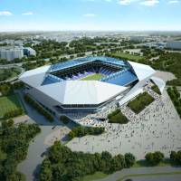 Home sweet home: A rendering of the stadium Gamba Osaka plan to move into for the 2016 season. | STADIUM BOKIN DANTAI PHOTO